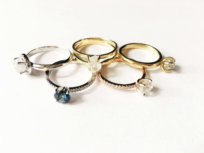 The New Raw Stone Ring Collection