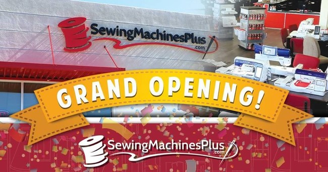 Sewing Machines Plus San Diego Grand Opening Flyer