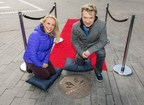 Torvill & Dean install handprints at Wembley Park. (PRNewsfoto/Wembley Park)