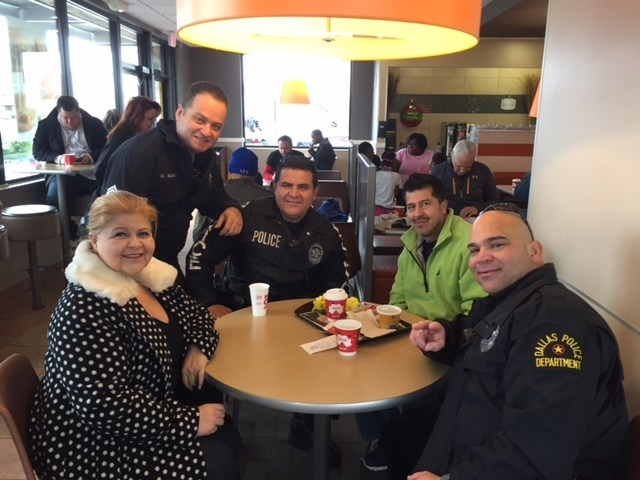 McDonald's of North Texas and Dallas Police Department launch sixth annual Coffee with Cops partnership.