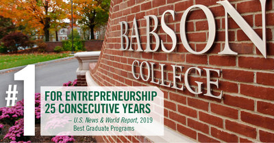 Babson College MBA Ranked No. 1 for Entrepreneurship for the 25th Consecutive Year by U.S. News & World Report