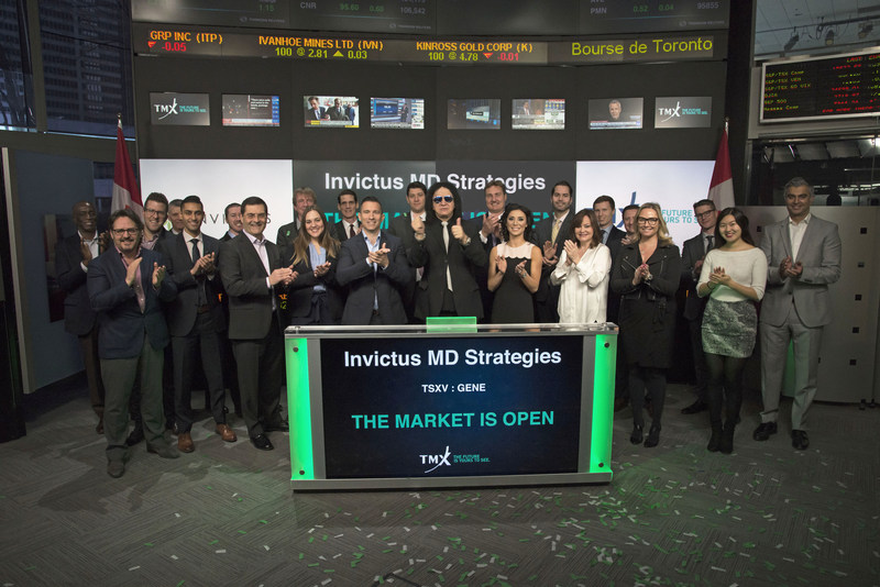 Invictus Opens the Market at TSXV (CNW Group/Invictus MD Strategies)