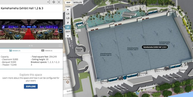 Hawaii Convention Center's New Concept3D Interactive Map - Event Tech for Wayfinding, Space Planning, and Streamlining the RFP Process for Meeting and Event Planners