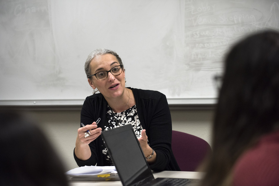 Among the distinguished faculty in UCI's Department of Criminology, Law & Society - which placed third in the nation in U.S. News & World Report's annual graduate school rankings - is Assistant Professor Keramet Reiter. Steve Zylius / UCI