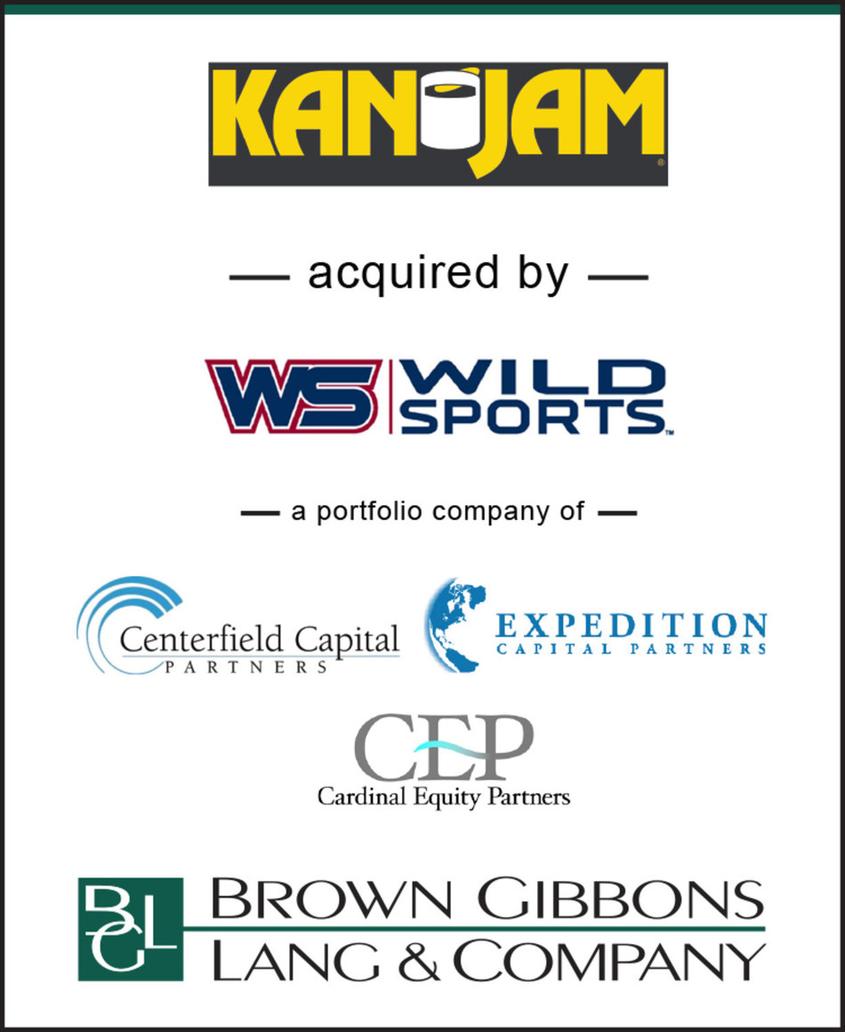 BGL is pleased to announce the sale of KanJam to Wild Sports creating a formidable platform in the outdoor games space. BGL's Consumer Products & Retail team served as the exclusive financial advisor to KanJam. KanJam is the Buffalo, New York-based creator and provider of America's No. 1 party sport, KanJam. Wild Sports, based in Westfield, Indiana, is the market leader in licensed and branded bean bag toss games.
