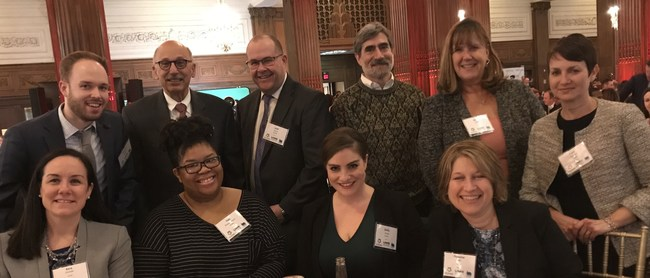 ECFMG and FAIMER leadership and staff attended the Top Workplaces award ceremony on March 14.