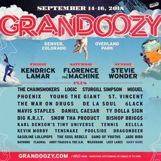 Grandoozy Unveils 2018 Lineup With Kendrick Lamar Headlining Friday, Florence + The Machine Headlining Saturday And Stevie Wonder Headlining Sunday