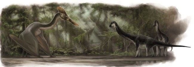 Artists Impression. Credit: Frederik Spindler, Dinosaurier Museum Altmühltal (PRNewsfoto/Dinosaur Museum Altmuehltal)