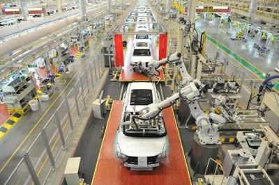 Layout de linha de produção inteligente baseada em informações da GAC Motor (PRNewsfoto/GAC Motor)