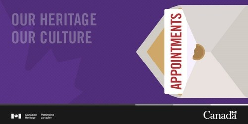 Appointments (CNW Group/Canadian Heritage)