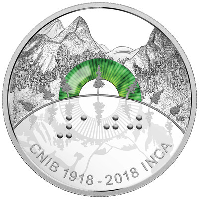 2018 $30 Fine Silver Coin - 100th Anniversary of the CNIB (CNW Group/Royal Canadian Mint)