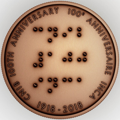 Bronze Medallion - 100th Anniversary of the CNIB (CNW Group/Royal Canadian Mint)