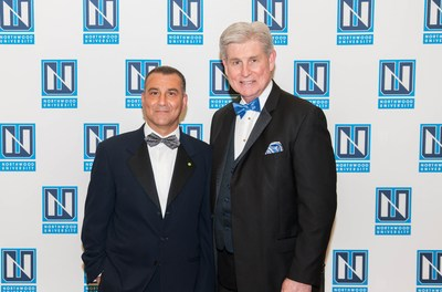 Simon Group Holdings Founder & Chairman Sam Simon (left) and Northwood University President Keith Pretty (right) at the 2018 OBL Awards Gala