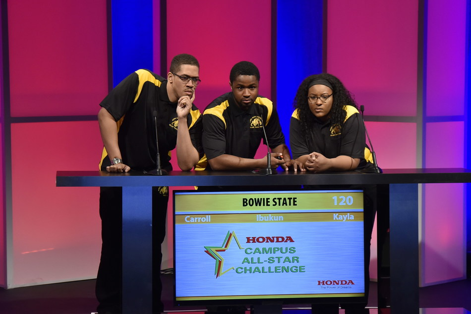 Students from Bowie State University compete in the 2017 Honda Campus All-Star Challenge (HCASC), America's premier quiz bowl for Historically Black Colleges and Universities (HBCUs). Teams from 48 HBCUs will compete for the championship title and a share of more than $350,000 in institutional grants from Honda in the 29th Annual HCASC National Championship Tournament. Tune into HCASC.com on April 10 at 12 p.m. EDT to watch the livestream of the academic competition.