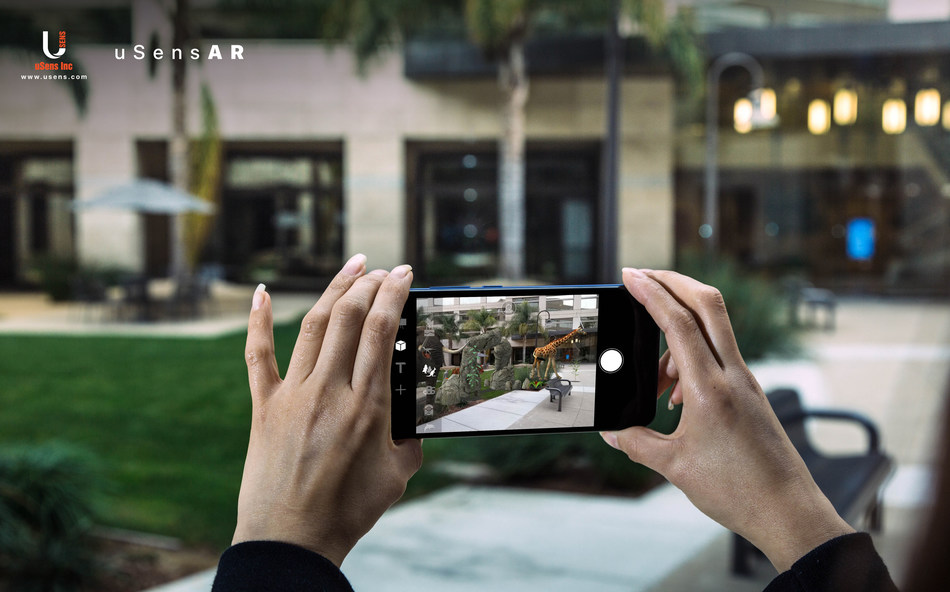 uSens, Inc. (www.usens.com) has launched uSensAR, a single camera, smartphone AR engine that is optimized for low-end cameras, sensors and IMUs. It utilizes computer vision, machine learning, SLAM, and smartphone hardware to bring high-performance Augmented Reality experiences to all Android smartphone users.