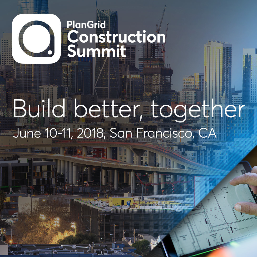 NFL Legend Steve Young and Industry Luminaries to Speak at Inaugural PlanGrid Construction Summit June 10-11, 2018 at the Hilton Union Square in San Francisco.