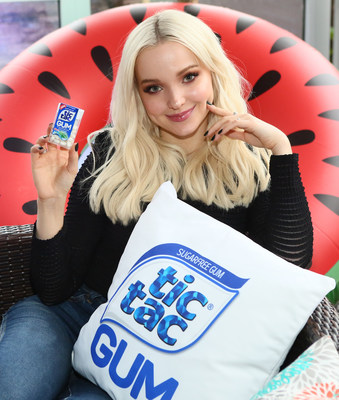 Actress and gum connoisseur Dove Cameron partners with Tic Tac® to inspire fans to Chew and Play® with Tic Tac Gum on Tuesday, March 20, in NYC