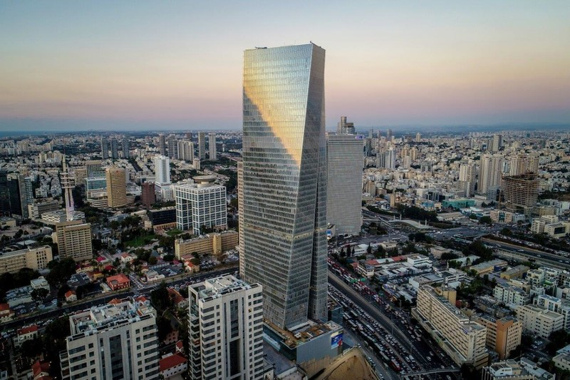 Azrieli Sarona; Azrieli's recently completed  flagship development project in the heart of Tel Aviv