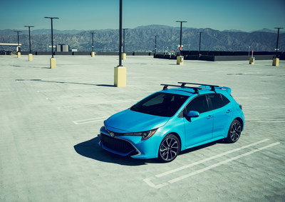 For the first time in North America, Toyota's newest, stylish, and most technologically-advanced small car, the all-new 2019 Corolla Hatchback, makes its debut at the New York International Auto Show.