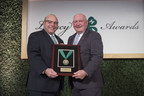 Honorable Sonny Perdue, U.S. Secretary of Agriculture, presents Zippy Duvall, president of the American Farm Bureau Federation, with the Distinguished 4-H Alumni Medallion during the 9th annual National 4-H Council Legacy Awards on Tuesday, March 20, 2018, in Washington. (AP Images for National 4-H Council)