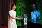 Actress and producer, Aubrey Plaza, shares her personal story and passion for 4-H during the 9th annual National 4-H Council Legacy Awards on Tuesday, March 20, 2018, in Washington. (AP Images for National 4-H Council)