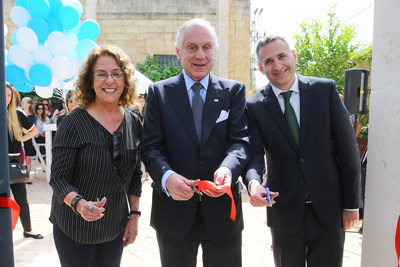 Eric Michaelson, Chief Israel Officer of the Jewish National Fund at the ribbon-cutting ceremony for the new Lauder Club. Image Courtesy of Liron Moldovan