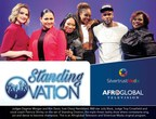 Judges Dagmar Morgan and Kim Davis, host Cheryl Nembhard, R&B star Jully Black, Judge Troy Crossfield andvoc al coach Patricia Shirley on the set of Standing Ovation, the triple threat reality show where contestants sing,act and dance to become champions. This is an Afroglobal Television and Silvertrust Media original program. (CNW Group/Afroglobal Television)