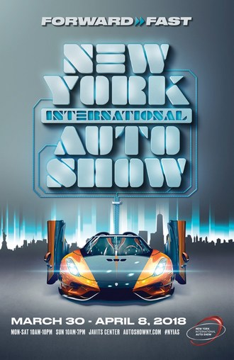 Fast Forward To The New York Auto Show's 2018 Poster Art