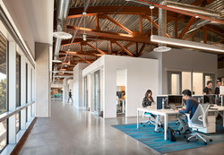 There are three levels of membership for maximum flexibility: offices and team rooms, dedicated desks and coworking. Shown here is one of the coworking areas at Serendipity Labs Hollywood. Photo credit: Gensler