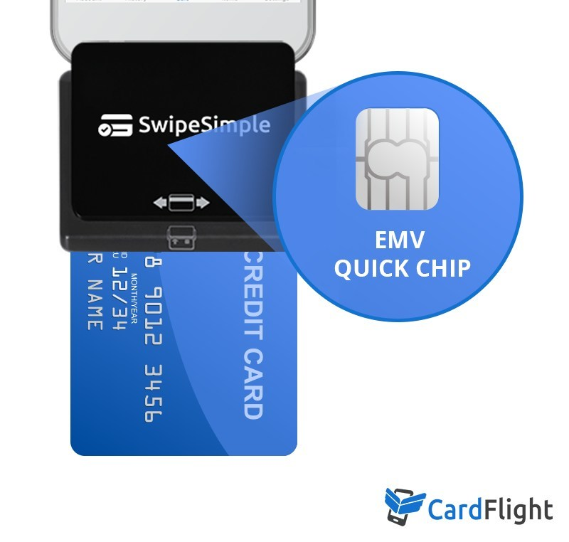 CardFlight leads the way in EMV card acceptance in the U.S. The Eclipse A200 card reader now with EMV Quick Chip technology