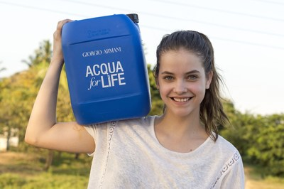 Barbara Palvin, face of Acqua di Gioia fragrance, in Sri Lanka for Acqua for Life