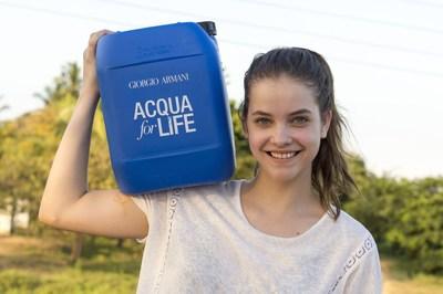 Barbara Palvin, face of Acqua di Gioia fragrance, in Sri Lanka for Acqua for Life (PRNewsfoto/Giorgio Armani Beauty)