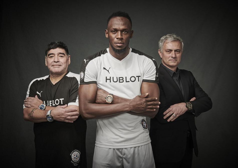 Hublot Ambassadors - Diego Maradona, Usain Bolt, Jose Mourinho (PRNewsfoto/Hublot)