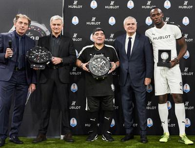 Michel Pont, Jose Mourinho, Diego Maradona, Ricardo Guadalupe, Usain Bolt, Alan Shearer