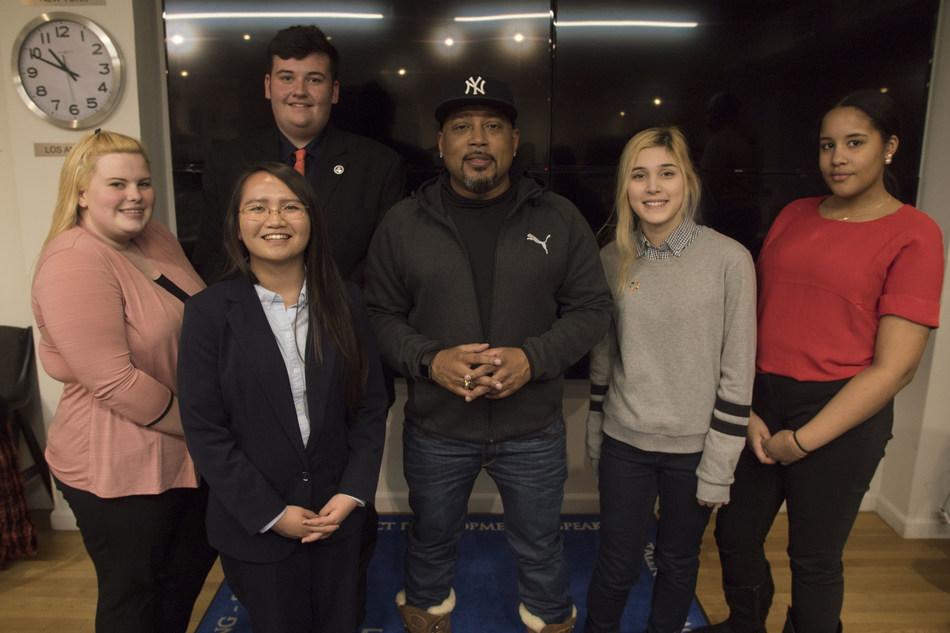Daymond John and the SAP Teen Innovators at The Shark Group