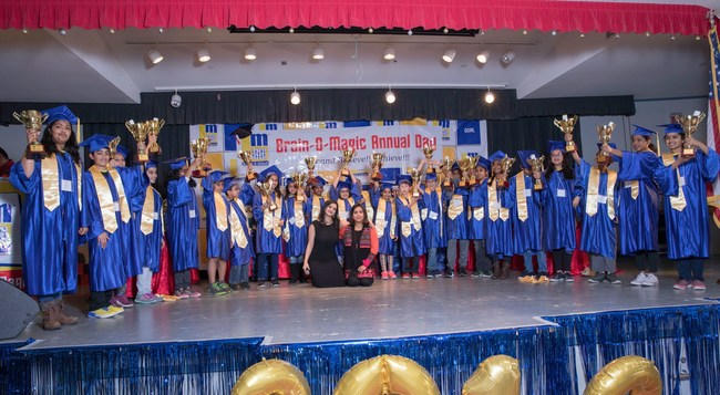 Proud graduates of Brain-O-Magic 2018 with founder and director Puja Kasliwal