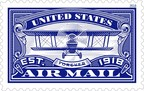 The U.S. Air Mail Forever stamps commemorate the 100th Anniversary of airmail service with style reminiscent of that era. Created by stamp designer Dan Gretta and art director Greg Breeding.