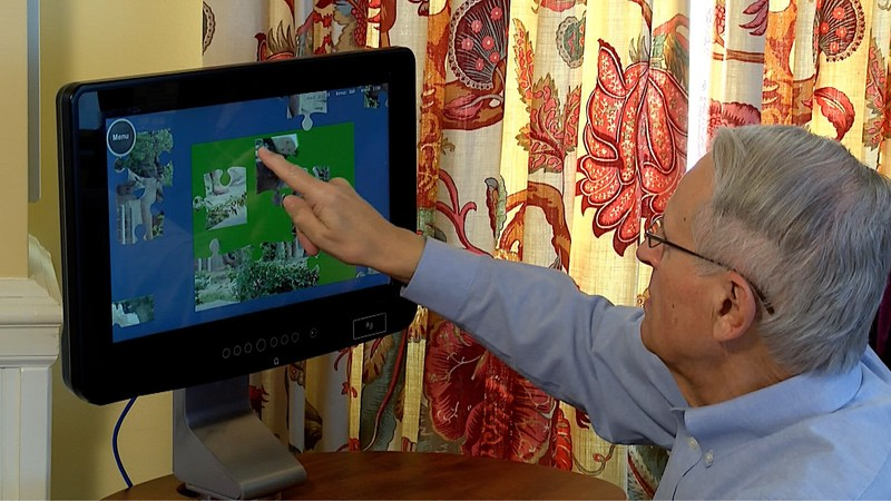 The Birdsong Tablet in use at Westminster-Canterbury on Chesapeake Bay. Photo is courtesy of Westminster-Canterbury on Chesapeake Bay.