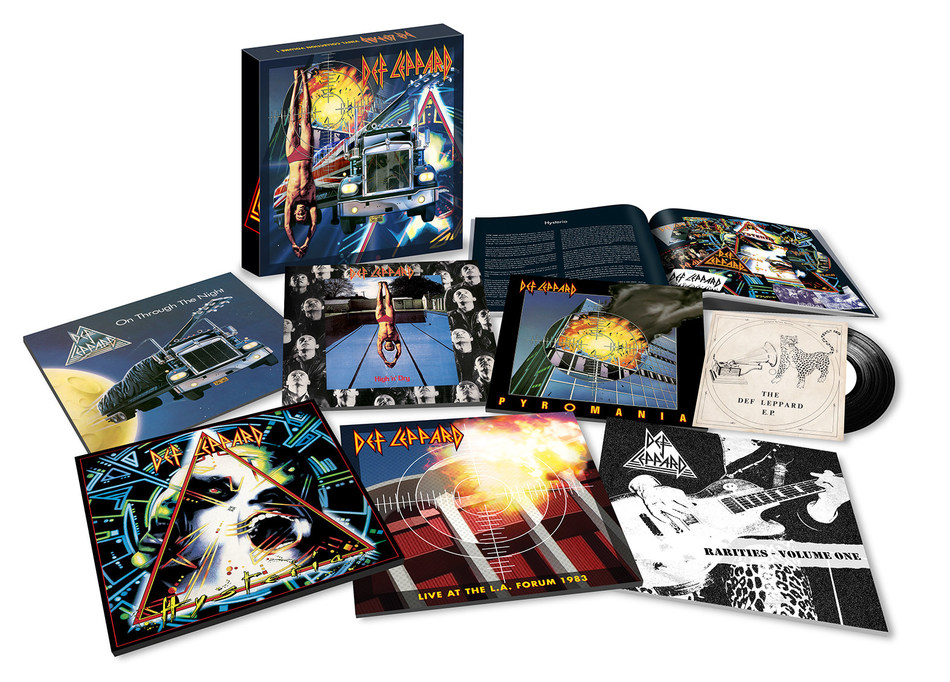 The British Rock Icons Unleash A New Round Of Raucous, Retro-Active Complete Collections, Starting with Volume One Box Sets On Both 180-gram heavyweight 8LPs and 7CDs, Via Bludgeon Riffola/Mercury/UMe on June 1. Collection also contains a hardback book with rare photos. Rarities Volume 1 has been specially compiled by Joe Elliott, containing rare B-sides and recordings from Def Leppard's early years, all in a new sleeve plus a 7-inch vinyl single and 3-inch CD of Def Leppard's original, self-titled EP.