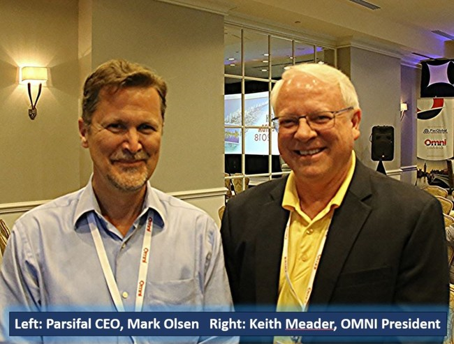 Palm Bay, FL, (March 23, 2018) - Parsifal Corporation: OMNI (Overseas Moving Network International) held its annual conference this week at the Four Seasons Hotel, Palm Beach, Florida from the 19th through the 22nd. OMNI invited Parsifal CEO, Mark Olsen, to an informative interview session as a pioneer and market leader in relocation technology and audits. Interviewer Nigel Saunders (Nuss Relocations) provided Mr. Olsen with a wide range of questions to learn more about Parsifal.