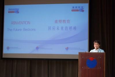 Dr Betty Chan, la PDG de l'YCIS et de l'YWIES et superviseur scolaire a fait le discours d'ouverture (PRNewsfoto/Yew Chung International Schools)