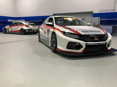 RealTime Racing will field a pair of Honda Civic Type R entries at the Circuit of the Americas this weekend, driven by Ryan Eversley and Nick Esayian. (PRNewsfoto/Honda Racing/HPD)
