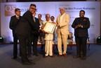 JGU VC Prof (Dr) C Raj Kumar receiving the QS I-Gauge Diamond Rating certificate from Former President of India Shri Pranab Mukherjee and Dr. Virander Chauhan, Chairman, NAAC; in presence of Mr S.V. Ranganath, Chairman, Advisory Board, QS I-Gauge; Mr Ben Sowter, Director, QS Ltd., UK and Mr. Ashwin Fernandes, Regional Director – Middle East, North Africa & India, QS Intelligence Unit (PRNewsfoto/O.P. Jindal Global University)