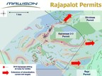 Figure 2: Rajapalot project showing drill holes completed to date and extensions to mineralized horizons currently being drill tested. (CNW Group/Mawson Resources Ltd.)