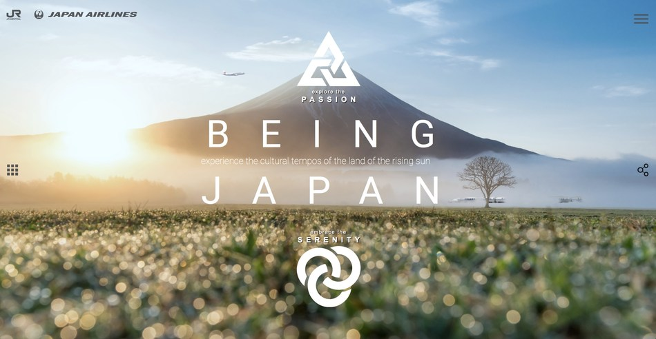 """BEING JAPAN"" Joint Website to Promote Inbound Travel to Japan"