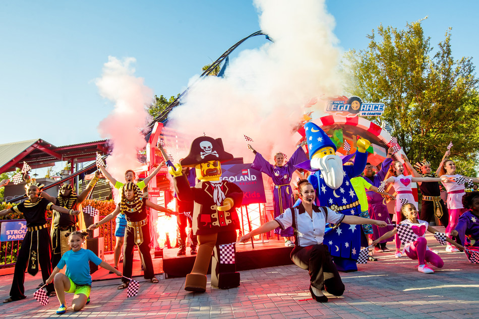 A spectacular grand opening ceremony celebrated the debut of The Great LEGO Race at LEGOLAND Florida Resort on March 23 in Winter Haven, Fla. The innovative attraction is the world's first virtual reality roller coaster experience built for kids.