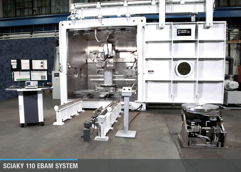 Sciaky's EBAM 110 metal 3D printing system.