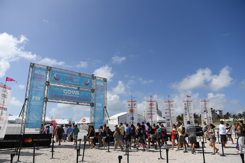 Entrance to the Goya Foods' Grand Tasting Village featuring Mastercard Grand Tasting Tents & KitchenAid® Culinary Demonstrations during the 2018 Food Network & Cooking Channel South Beach Wine & Food Festival - (Photo credit: WorldRedEye.com)