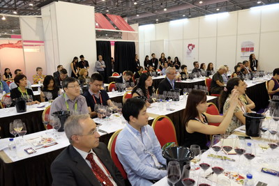 Full hall of trade attendees at Wines from Spain Tasting session in 2016 (PRNewsfoto/UBM Asia)