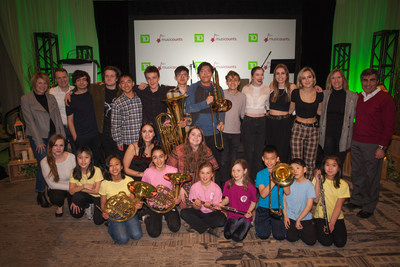 TD Bank Group, in collaboration with MusiCounts, presented Saint James Music Academy with $20,000 in new musical instruments and equipment through the MusiCounts TD Community Music Program, to help grow its community music programs in Vancouver. (CNW Group/TD Bank Group)
